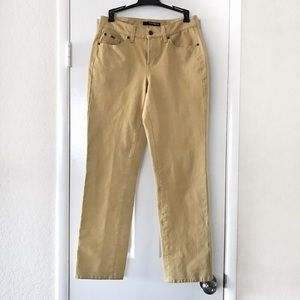 Cambio Norah Slim Straight Leg Yellow Jeans 8